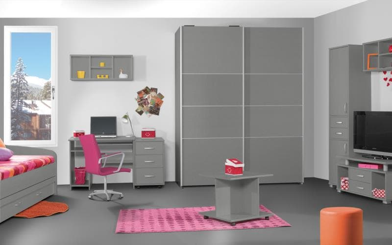 Treviso Handle-less Gloss Silver Bedroom