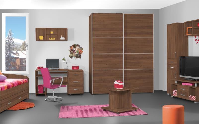 Treviso Handle-less Gloss Tiepolo Bedroom
