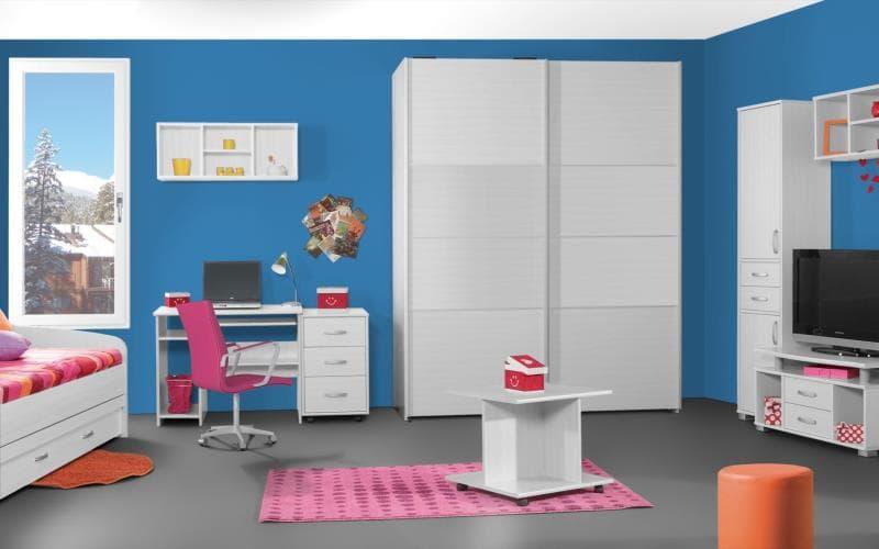 Treviso Handle-less Gloss White Bedroom