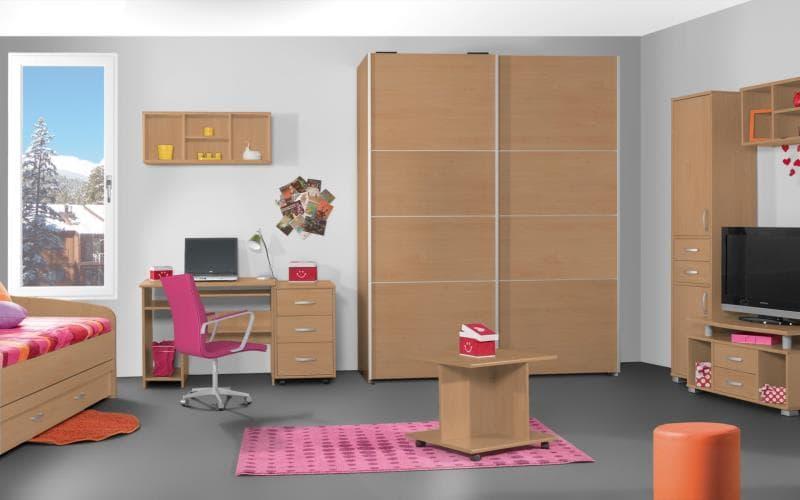 Treviso Handle-less Matt Beech Bedroom