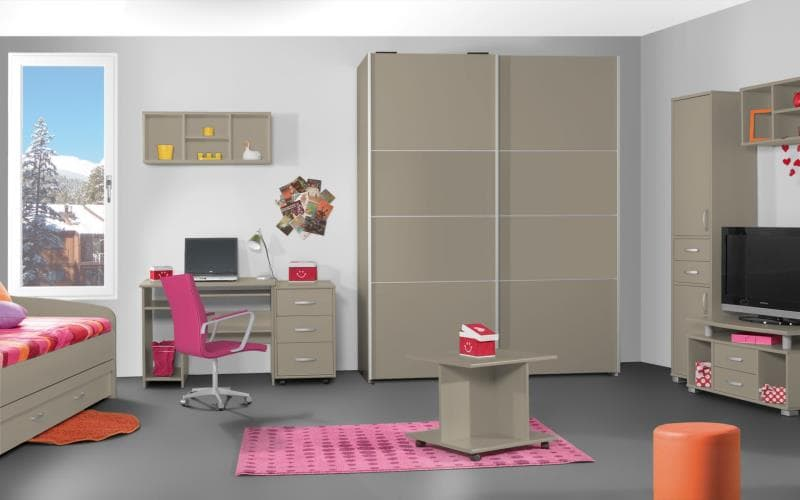 Treviso Handle-less Matt Dakar Bedroom