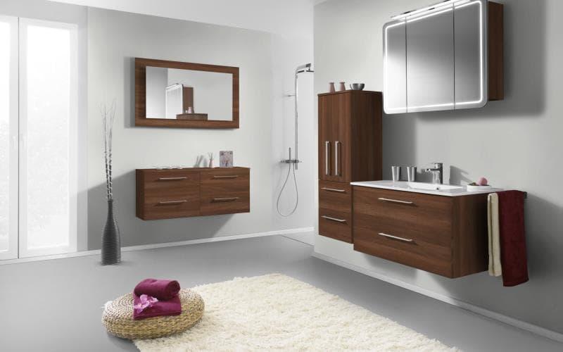 Treviso Handle-less Matt Dark Walnut Bathroom