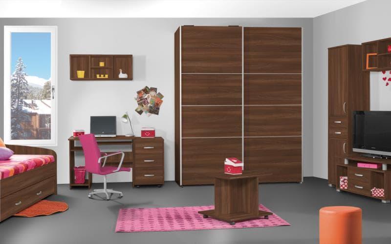 Treviso Handle-less Matt Dark Walnut Bedroom