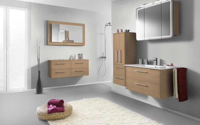 Treviso Handle-less Matt Ferrara Oak Bathroom