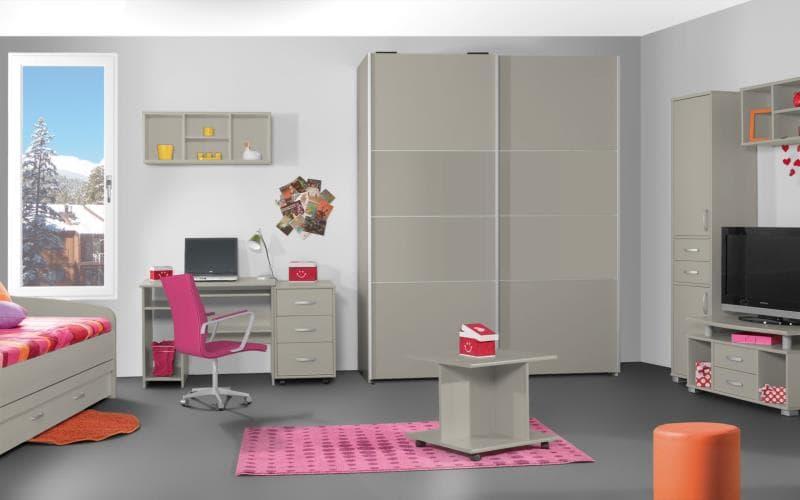 Treviso Handle-less Matt Flint Grey Bedroom