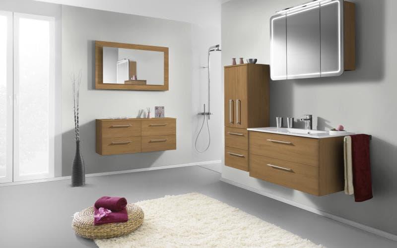 Treviso Handle-less Matt Lissa Oak Bathroom