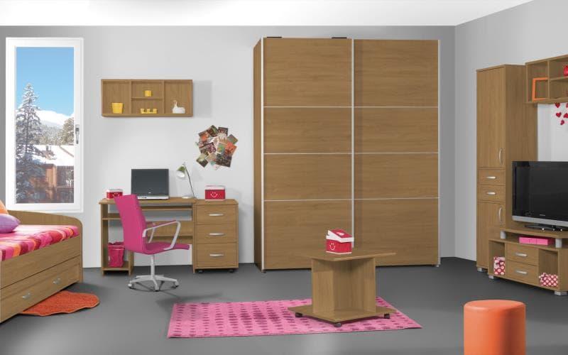 Treviso Handle-less Matt Lissa Oak Bedroom