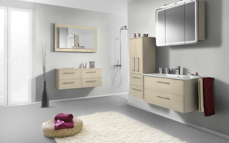 Treviso Handle-less Matt Magnolia Bathroom