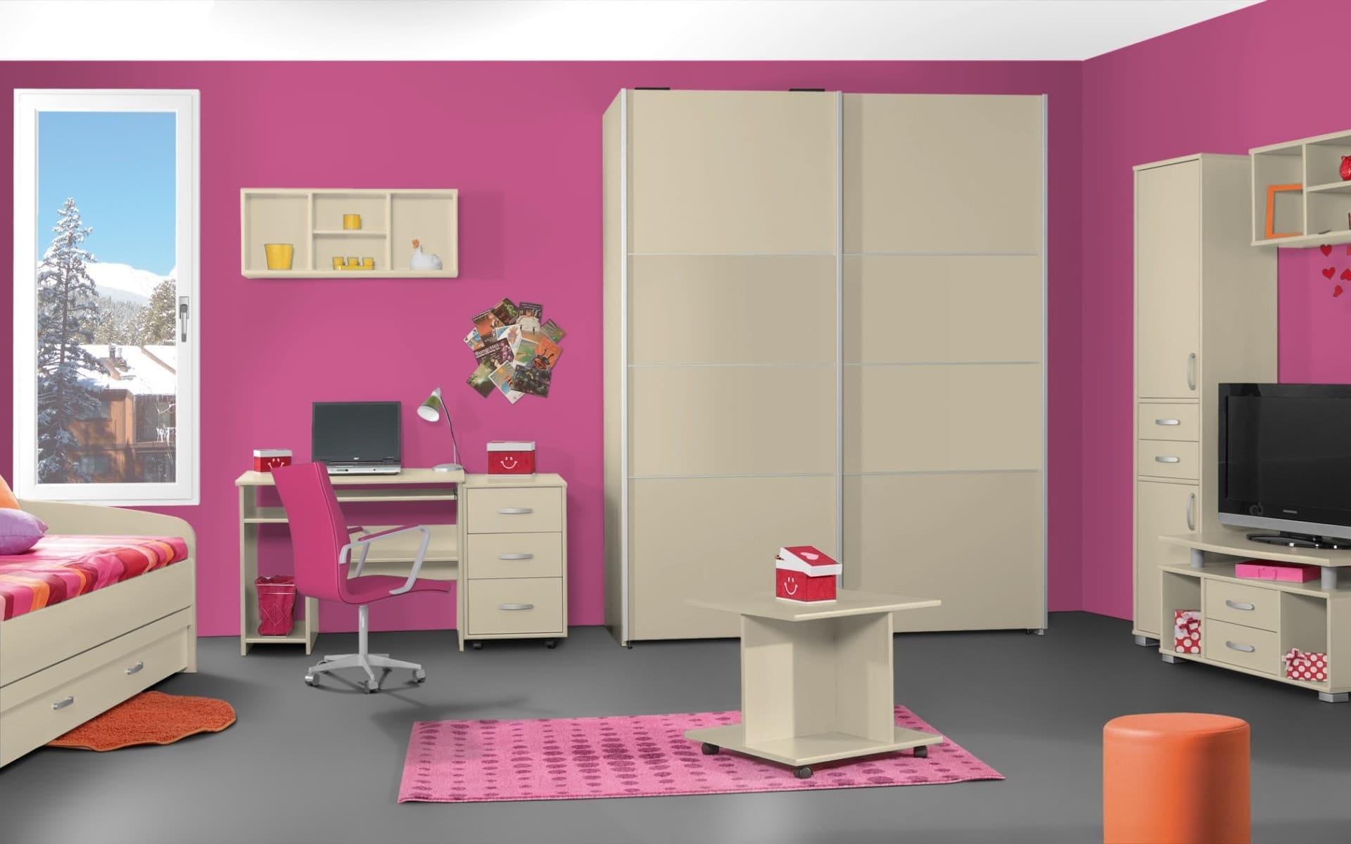 Treviso Handle-less Matt Magnolia Bedroom