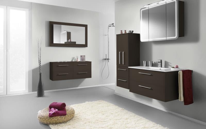 Treviso Handle-less Matt Mocha Bathroom