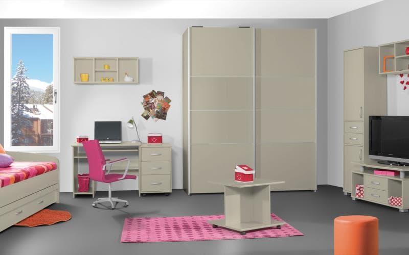 Treviso Handle-less Matt Mussel Bedroom