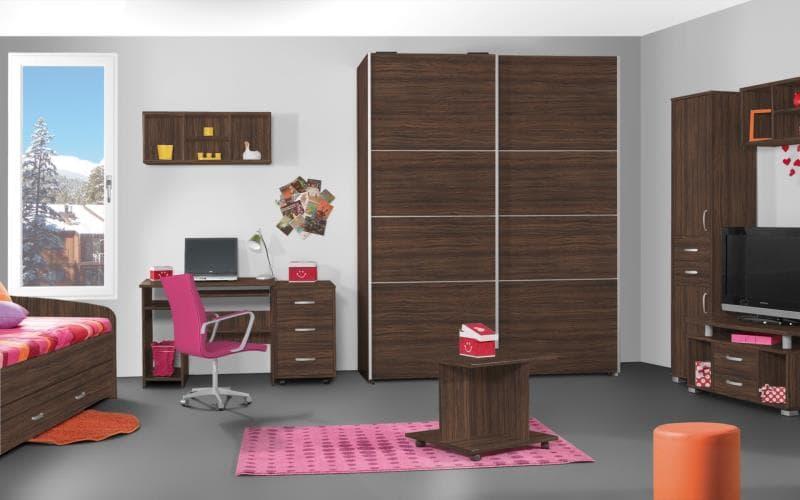 Treviso Handle-less Matt Olive Wood Bedroom