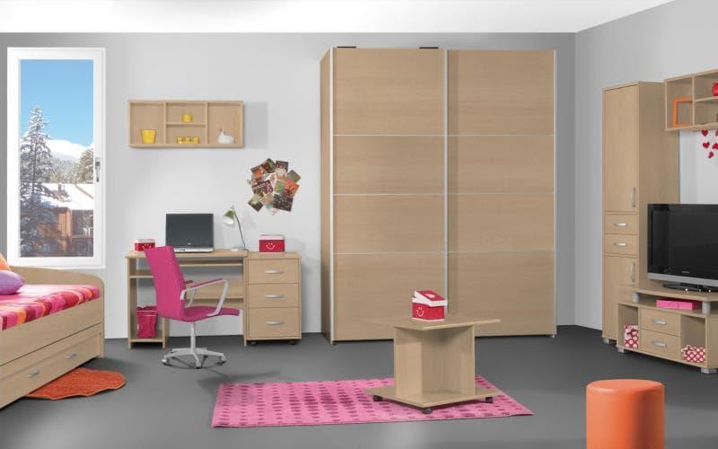 Treviso Handle-less Matt Ontario Maple Bedroom