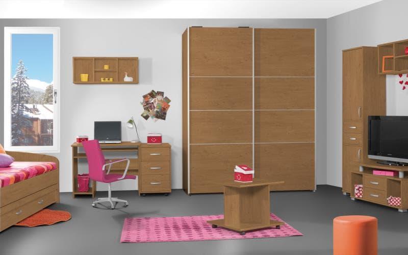Treviso Handle-less Matt Pippy Oak Bedroom