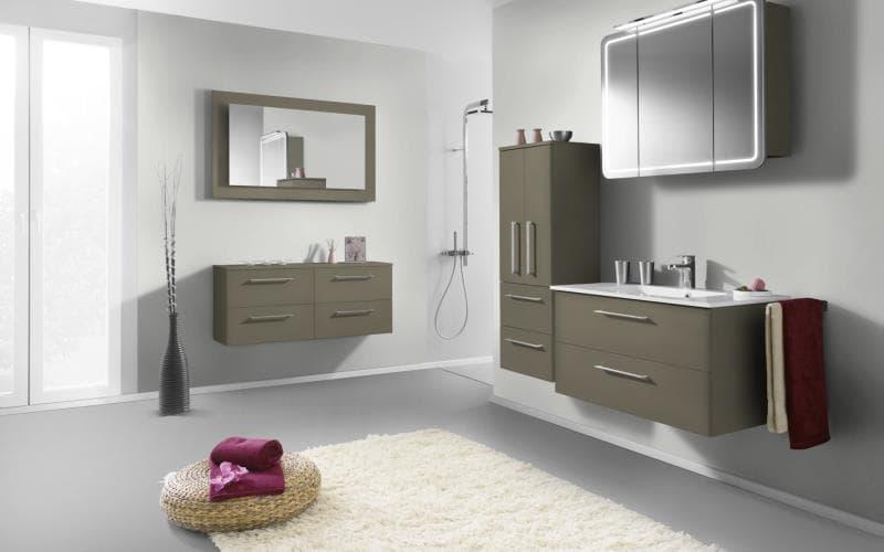 Treviso Handle-less Matt Saturn Olive Bathroom