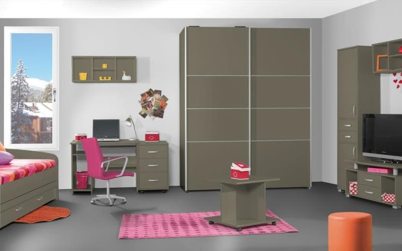 Treviso Handle-less Matt Saturn Olive Bedroom