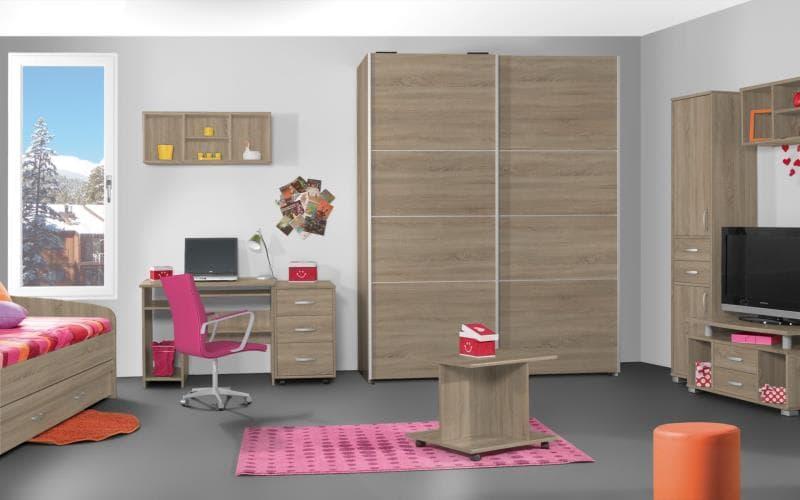 Treviso Handle-less Matt Sonoma Oak Bedroom