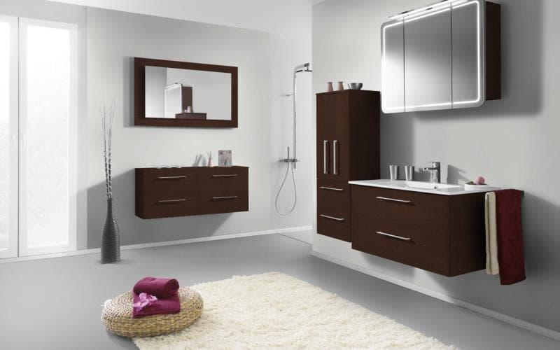 Treviso Handle-less Matt Wenge Bathroom