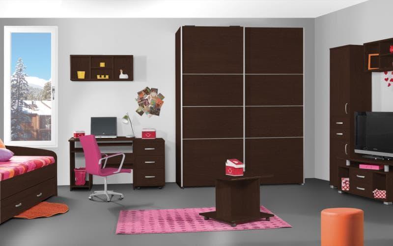 Treviso Handle-less Matt Wenge Bedroom