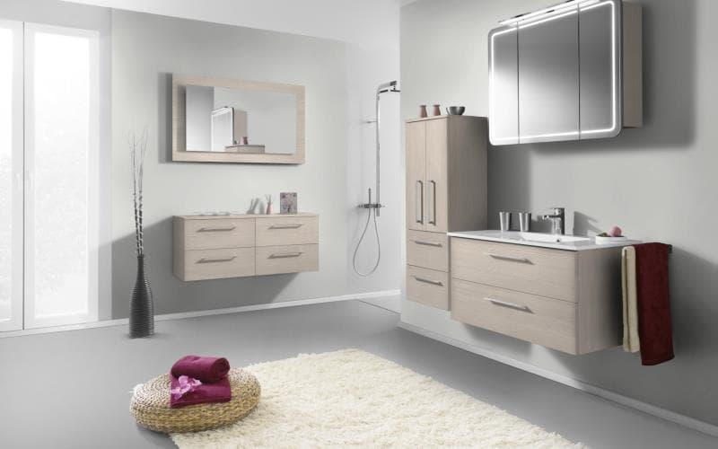 Treviso Handle-less Matt White Avola Bathroom
