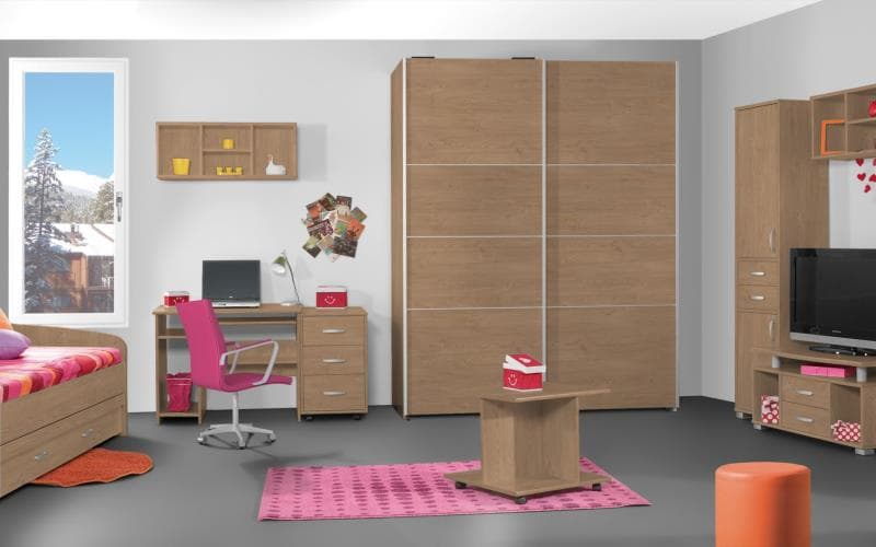 Treviso Handle-less Matt Winchester Oak Bedroom