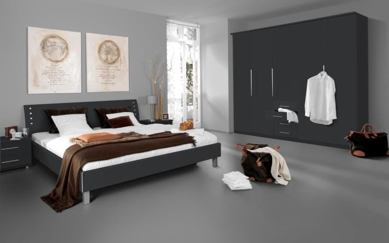 Saturn Gloss Anthracite Bedroom