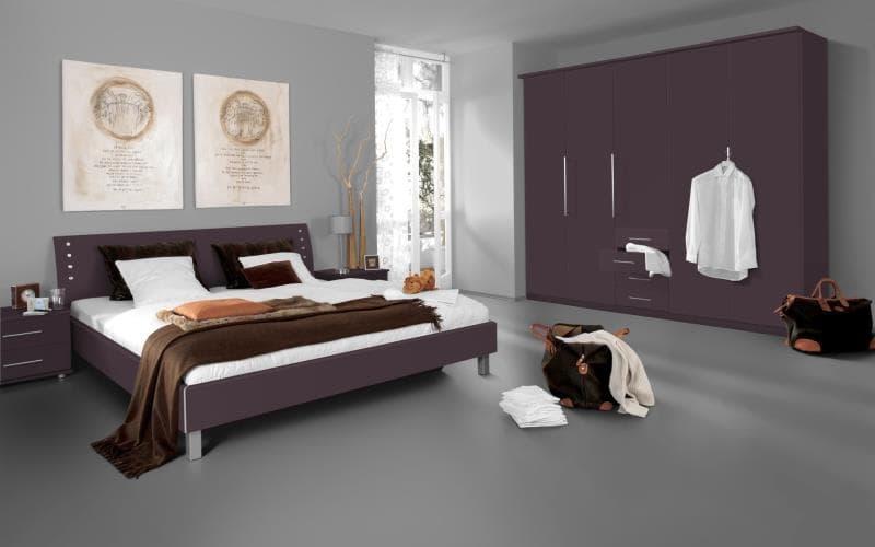Saturn Gloss Aubergine Bedroom