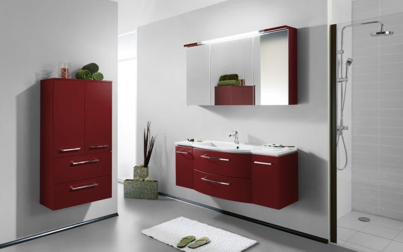 Saturn Gloss Burgundy Red  Bathroom