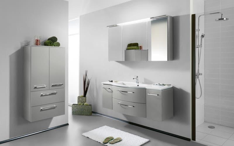Saturn Gloss Light Grey Bathroom