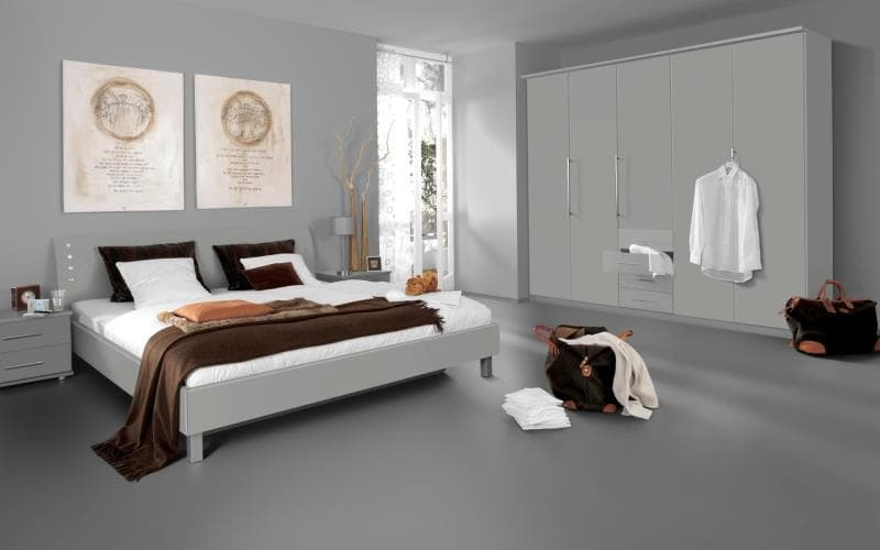 Saturn Gloss Light Grey Bedroom