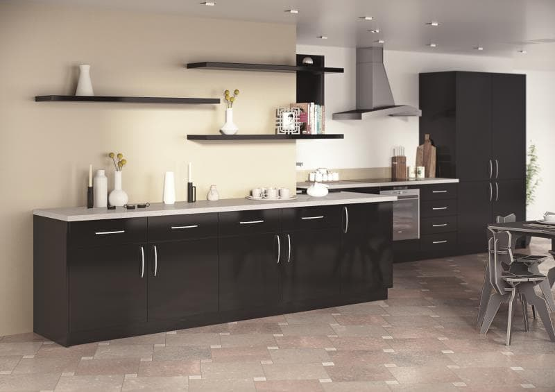 Sorrento Acrylic Black Roomset