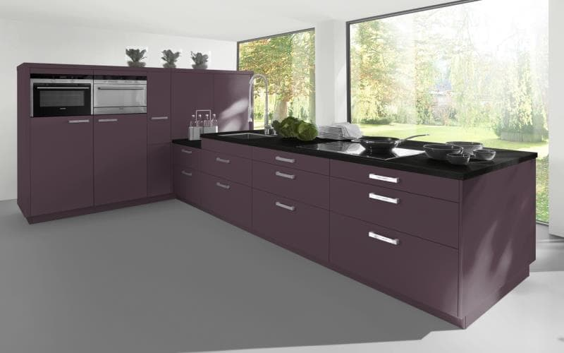 Sorrento Gloss Aubergine Kitchen