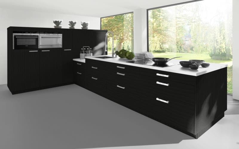 Sorrento Gloss Black Kitchen