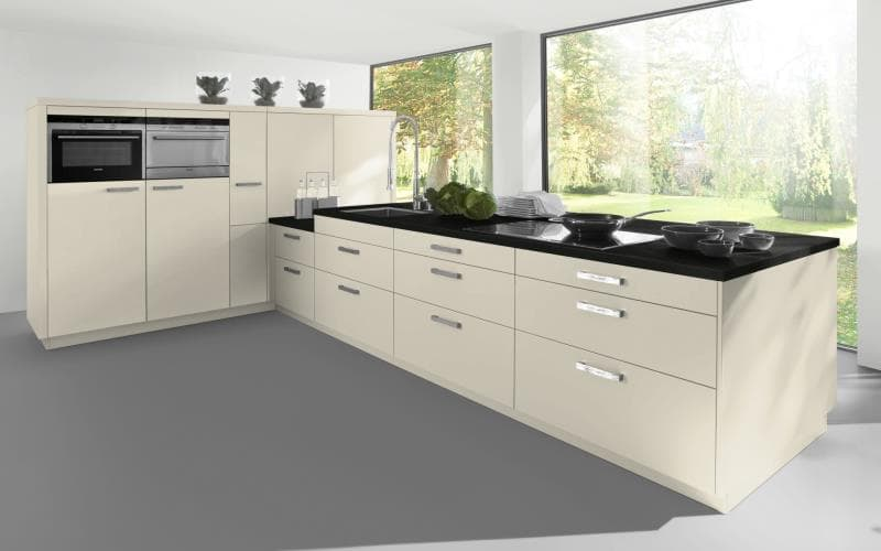 Sorrento Gloss Cream Kitchen