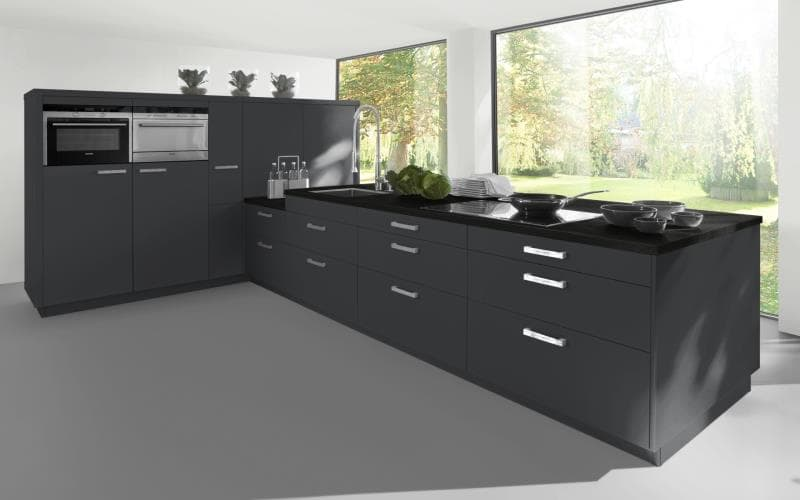 Sorrento Gloss Dark Grey Kitchen