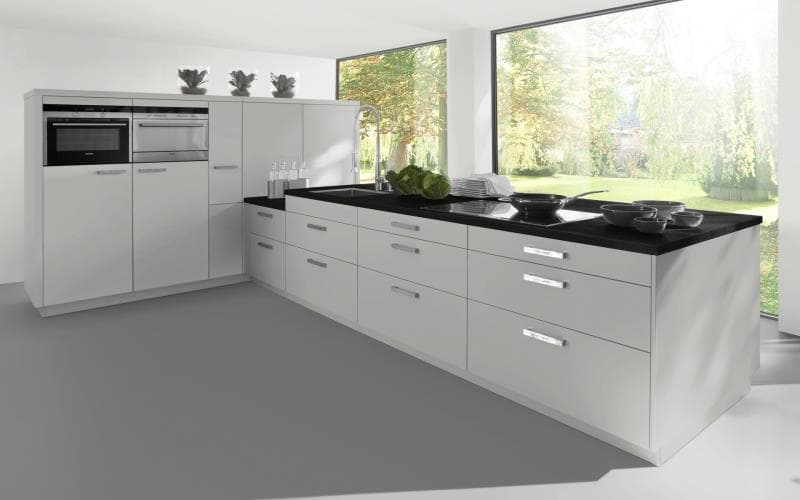 Sorrento Gloss Light Grey Kitchen