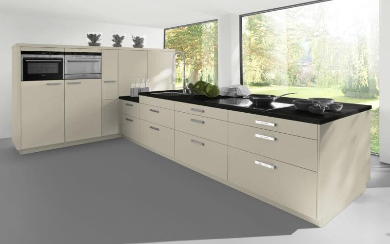 Sorrento Gloss Mussel Kitchen
