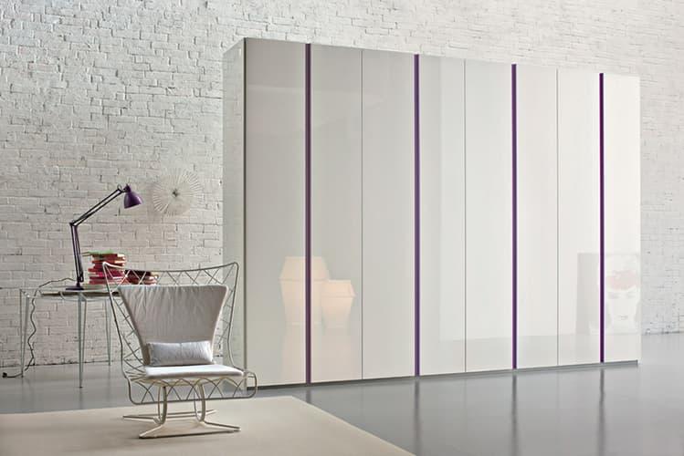 Treviso Handle-less Gloss White-Roomset bedroom