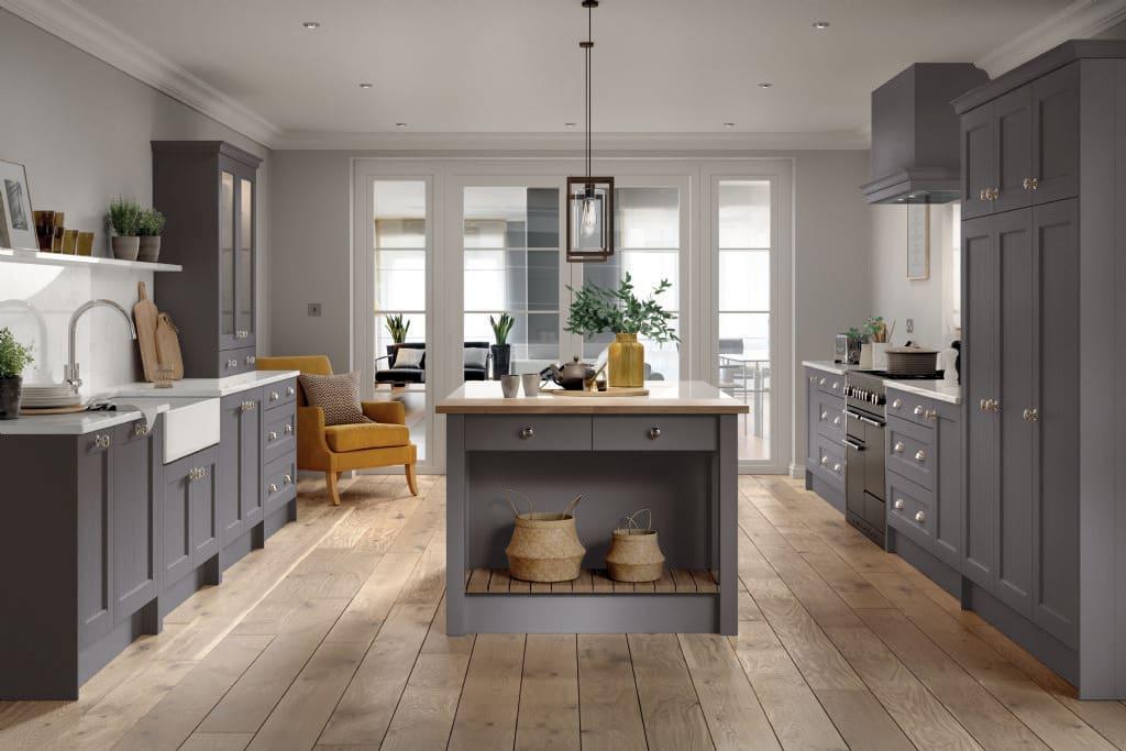 5Piece bastille dust grey kitchen