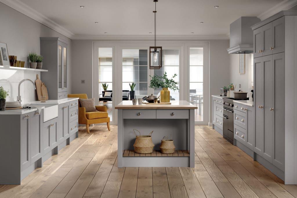 5Piece bastille light grey kitchen