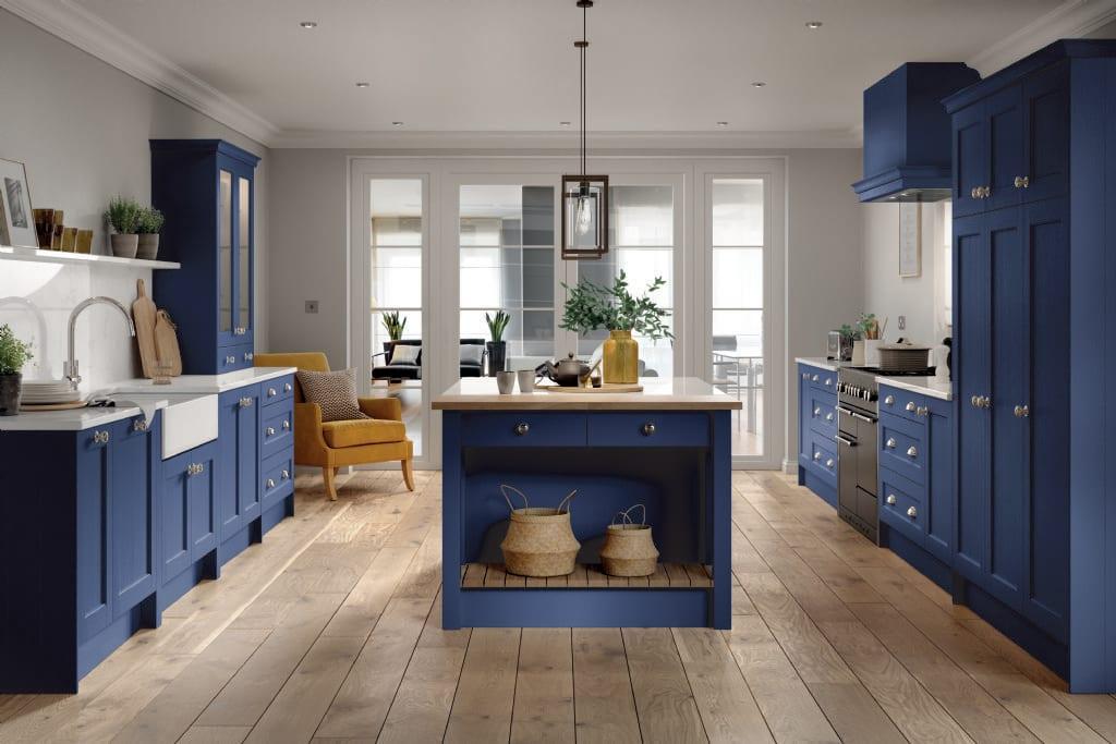 5Piece bastille marine blue kitchen