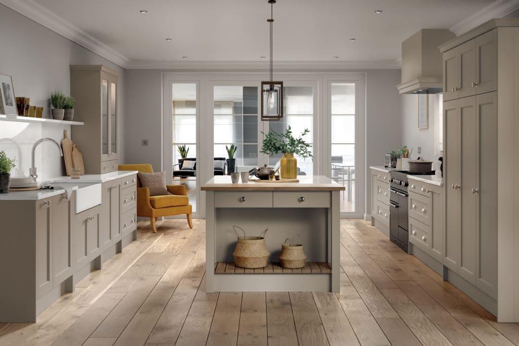 5Piece bastille taupe kitchen