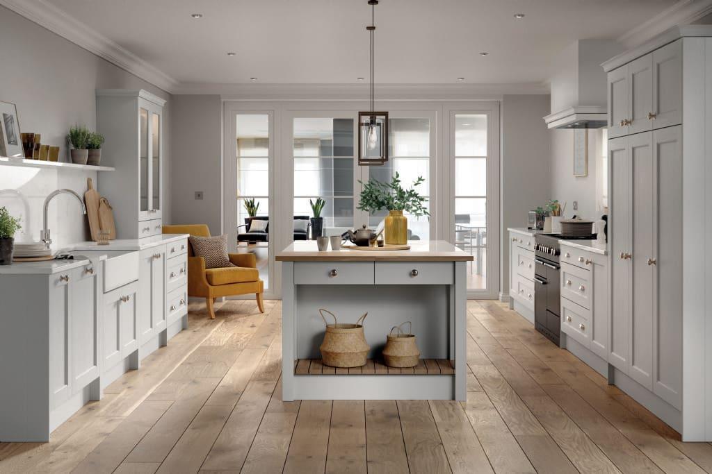 5Piece bastille white grey kitchen