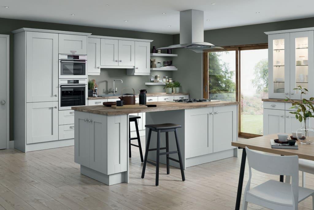 5Piece fenwick kitchen white grey