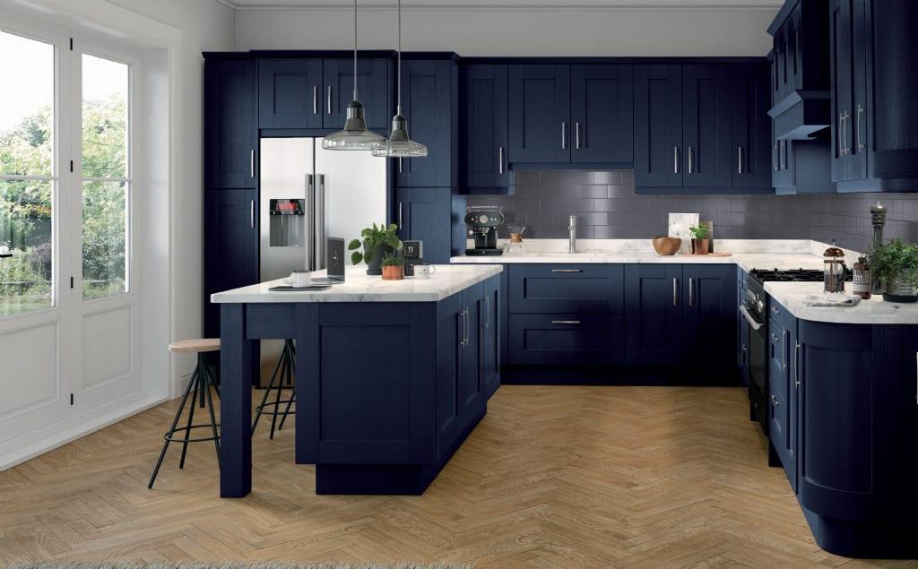 5Piece fenwick kitchen marine blue