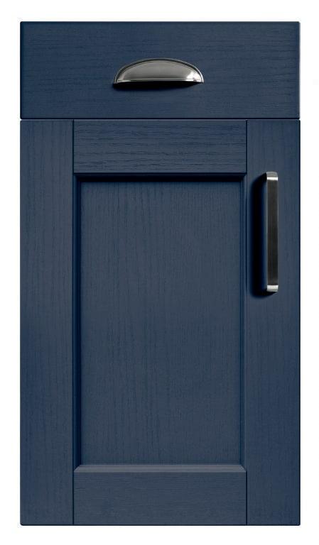 5Piece bastille marine blue kitchen door