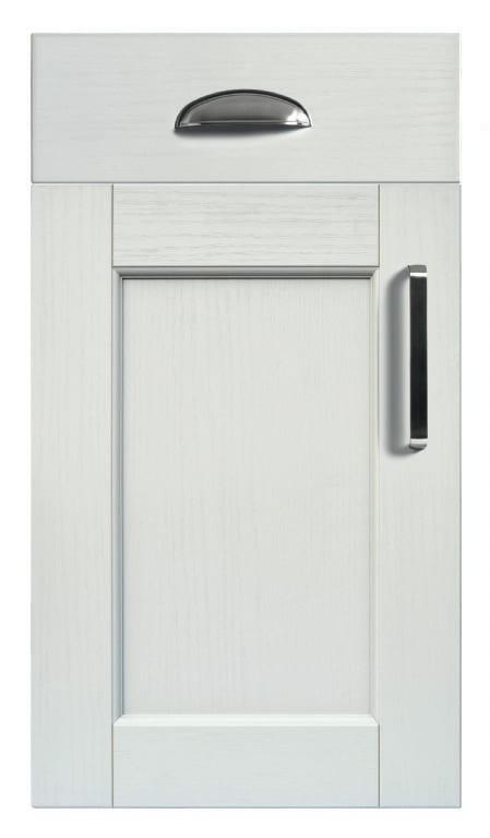 5Piece bastille white grey kitchen door