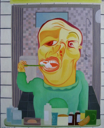 Mao Guo - Brushing Teeth, 80 x 100cm