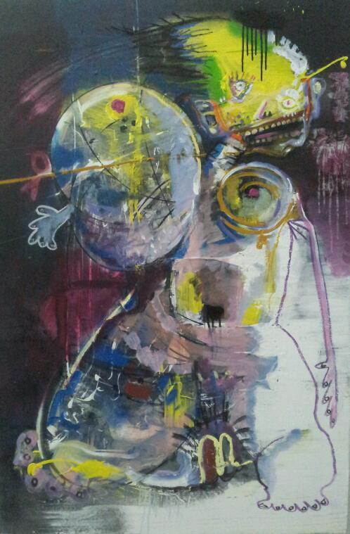 Guo Shaonan - A Woman, 120 x 80cm, Acrylic on canvas