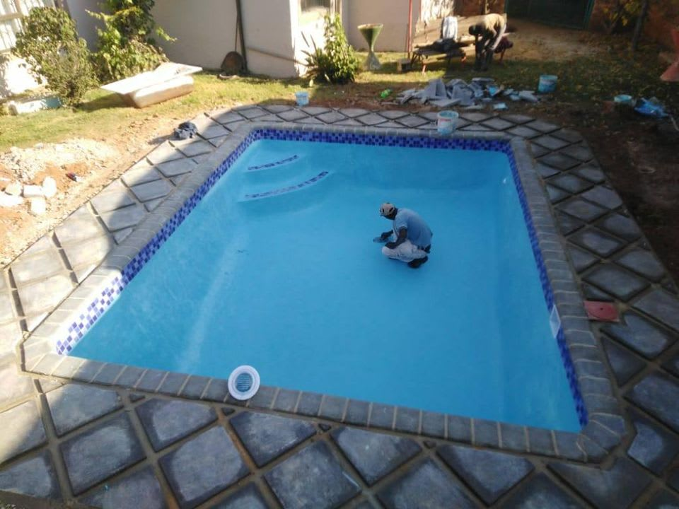 We are building swimming pools from scratch